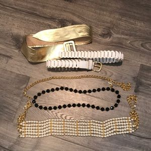 Vintage 90's belt bundle. Gold and chain style FAB